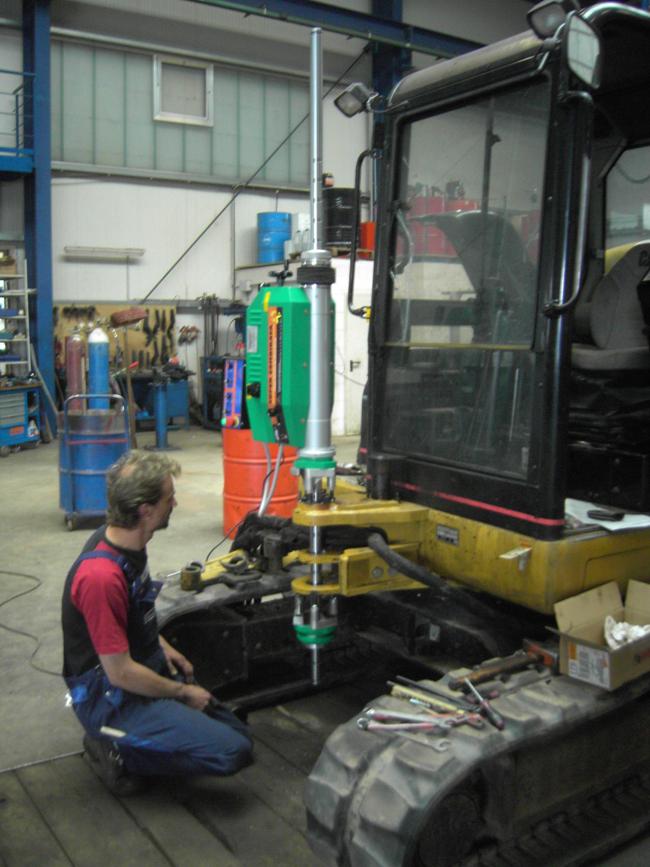 Reichert Servicecenter Referenzen - Mobile Bohr- und Schweißanlage