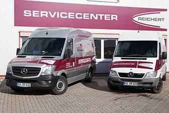Service vor Ort mit eigenen Servicefahrzeugen