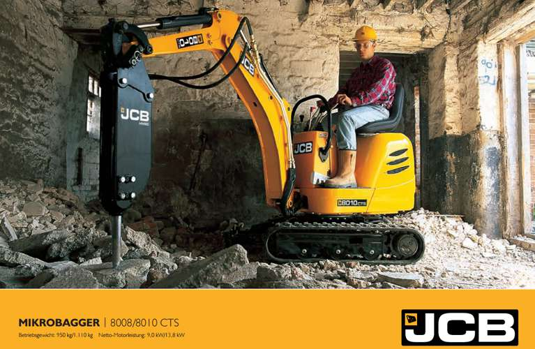 Datenblatt Minibagger JCB 8010
