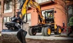 Baumaschinenvermietung - JCB Hydradig Mobilbagger mieten